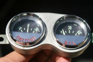 58 62 Chevrolet Corvette Amp Battery Oil Pressure Gauge Cluster Vintage 1961