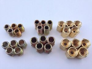 3 16 1 4 Brake Fitting Brass Inverted Flare Union Asst 30 Pcs