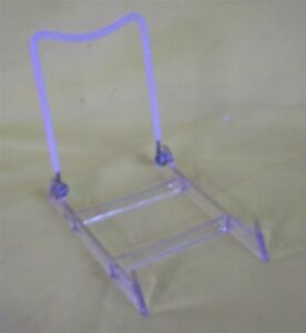 Store Display Fixtures 12 New Acrylic Adjustable Back Easels 4 W
