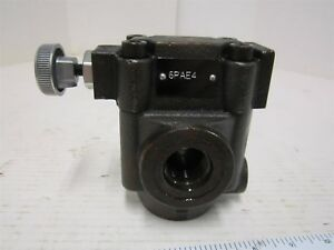 Parker Hydraulic Relief Valve 100 To 3045 Psi Model R4v065b310a1 Port Sae 12