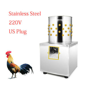 30 Stainless 220v Poultry Goose Duck Chicken Feather Plucker Plucking Machine