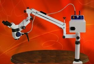 3 Steps Portable Dental Microscope With Beam Splitter ccd Camera Table Mount