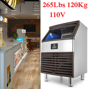 265lbs 120kg Commercial Ice Cube Maker Machines Drink Bar Freezers Undercounter