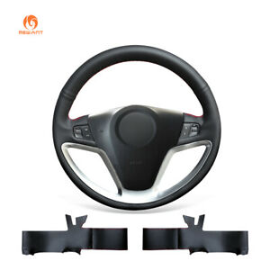Diy Black Artificial Leather Steering Wheel Cover Fit For Opel Antara 2007 2011
