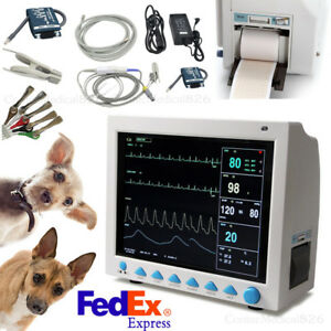 Veterinary Patient Monitor Vital Signs Monitor Vet Monitor 7 Para