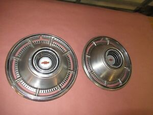 1966 Chevy Impala Bel Air Biscayne 396 427 14 Hubcaps Pair