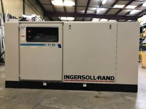 100 Hp Ingersoll rand Air Ir Compressor 17 631 Hrs Model Ssr ep100 Freight Yes