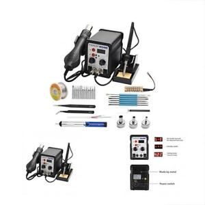 Electric Soldering Set Hand Tool Hot Air 700w 480 Digital Display Accessories