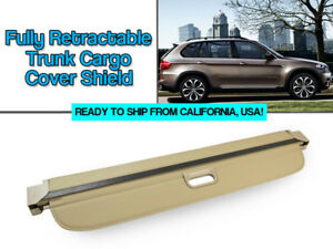 07 13 Bmw E70 X5 Fully Retractable Beige Trunk Cargo Cover Shield Luggage Cover