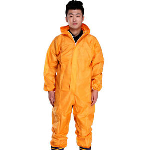 Men Coverall Rain Suit Work Clothing Dust Waterpproof Raincoat Workwear Outfit