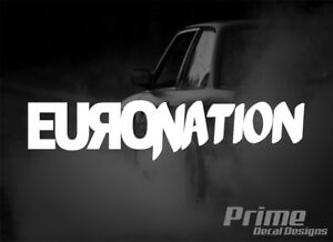 Euro Nation German Drift Stance Lowered Car Wall Window Vinyl Decal Sticker