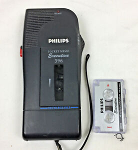 Phillips Executive 391 Pocket Memo Dictation Mini Tape Pre owned Working