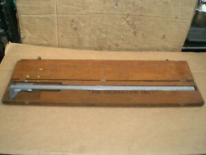 Starrett 26 Vernier Caliper No 123 With Wood Storage Case
