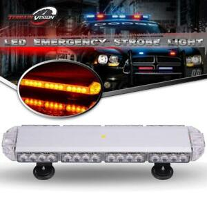 23 38 Led Strobe Light Emergency Beacon Warning Tow Truck Roof Top Amber