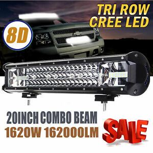 19 Inch Cree Led Work Light Bar 1620w Flood Spot Combo Offroad Driving Lamp Us