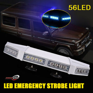 27 56led Traffic Adviser Warn Emergency Beacon Signal Strobe Light Bar Amber