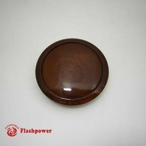 Wood Walnut Horn Button Small Plain For 9 Bolt Steering Wheel