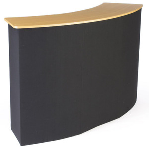 61 Portable Black Hook Loop Fabric Trade Show Booth Counter W Shelves