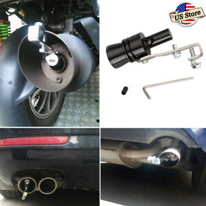 Universal Fake Turbo Sound Exhaust Blow Off Valve Simulator Whistler L Black