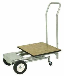 Wesco 272079 4 in 1 Convertible Hand Truck 13 1 2 W X 6 3 4 D Nose Plate