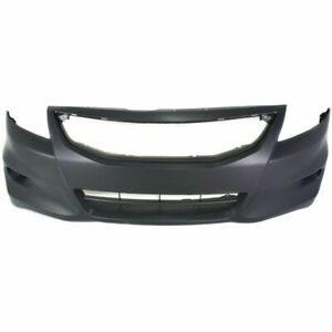 Front Bumper Cover For 2011 2012 Honda Accord Coupe W Fog Lamp Holes Primed