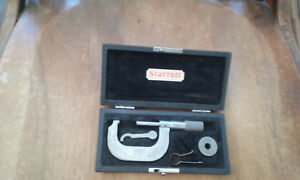 Vintage Lufkin 1 2 No 1612 Micrometer With A Starret Box