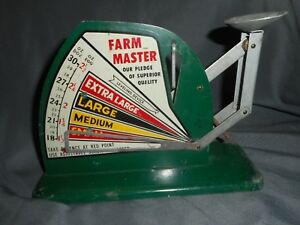 Antique Vintage Farm Master Primitive Egg Balance Weight Size Poultry Scale Nice