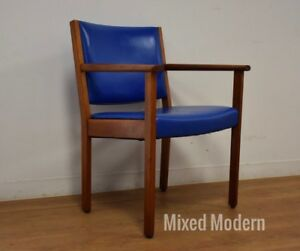 Danish Style Teak Desk Chair Mid Century Modern Johnson Chair Co