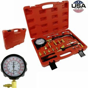 0 140 Psi Fuel Injection Pump Injector Tester Test Pressure Gauge Kit Car Truck