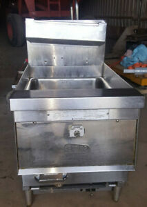 Keating Commercial Natural Gas Countertop Deep Fat Fryer 14cm Tabletop 87 000btu