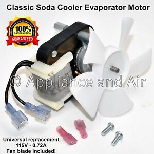 Classic Soda Cooler Evaporator Fan Blower Motor Blade Fit Many Vintage Coolers