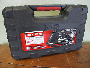 New Craftsman 58 Pc Mechanics Tool Set With Case Ratchet 2 Wrench 30 Sockets