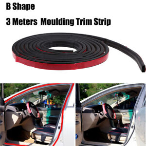 Self Adhesive Weather Stripping Automotive Rubber Weatherstrip Seal B Shape 3m