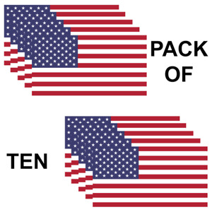 Usa American Flag Pack Of 10 Military Marines Army Window Decal Sticker Yeti Us