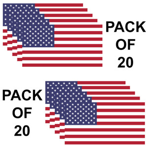 Usa American Flag Pack Of 20 Military Marines Army Window Decal Sticker Us