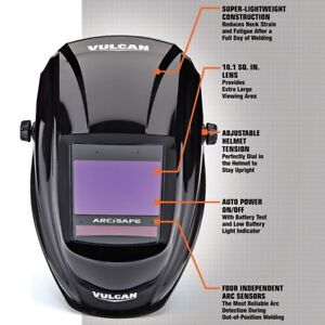 Arcsafe Auto Darkening Welding Helmet Welder Safety Protection Garage Auto Shop