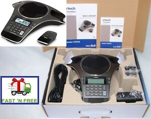 Vtech Erisstation Vcs702 3 Microphone Conference Phone Complete In Box 0 Ship