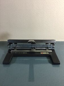 Mutual450 Acco 3 Hole Paper Punch Adjustable Heavy Duty 8 9 B433