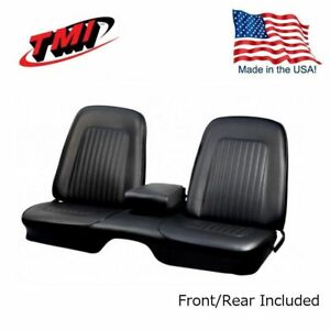 1967 1968 Camaro Coupe Front Rear Black Bench Seat Upholstery In Stock