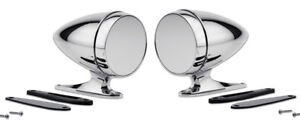 New Mustang Shelby Bullet Style Chrome Mirrors Gt350 Cobra Gt500 Pair Set