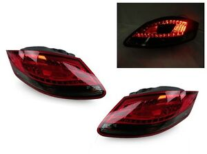 Depo Red Smoke Rear Led Tail Lights For 2005 2008 Porsche Boxster Cayman 987