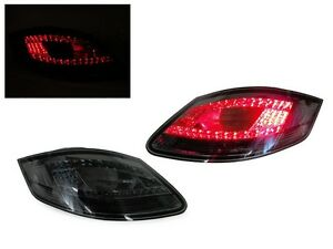Depo All Smoke Rear Led Tail Lights Set For 2005 08 Porsche Boxster