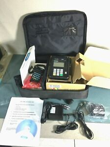 Hypercom Ice 5500 Credit Card Machine With Bag Nice Free Ships b441