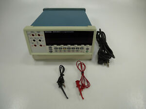 Tektronix Dmm4020 Bench top Digital Multimeter W 5 1 2 Digit Dual display