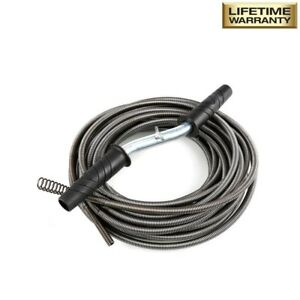 50 Ft Drain Auger Plumbing Snake Clog Cable 1 2 In Sewer Pipe Cleaner Durable