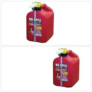 Poly Gas Can No Spill 2 5 Gal Polyethylene Thumb Button Control Gasoline Fuel