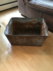 Vintage Metal Home Garden Planter