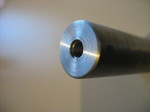 16mm Steel Shaft tapped 12mm X 1 25 bored 4 Long High Strength Steel 2 Pc