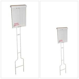 Sign Accessory Economy Brochure Holder Pole Display Portable Plastic Outdoor New