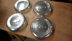 Vintage Chevy 10 5 Dog Dish Hub Cap Set Of 4 Hot Rod Rat Truck Suv Bowtie I18